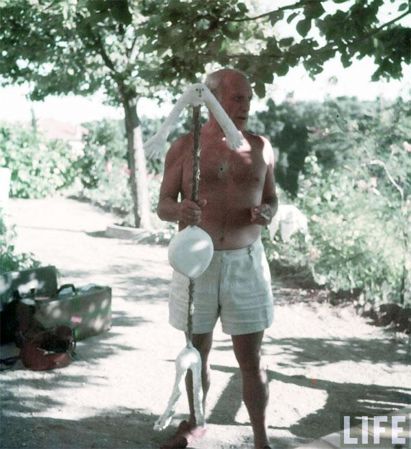 Пабло Пикассо дома. Валлорис, 1949. Гийон Мили, фото 5