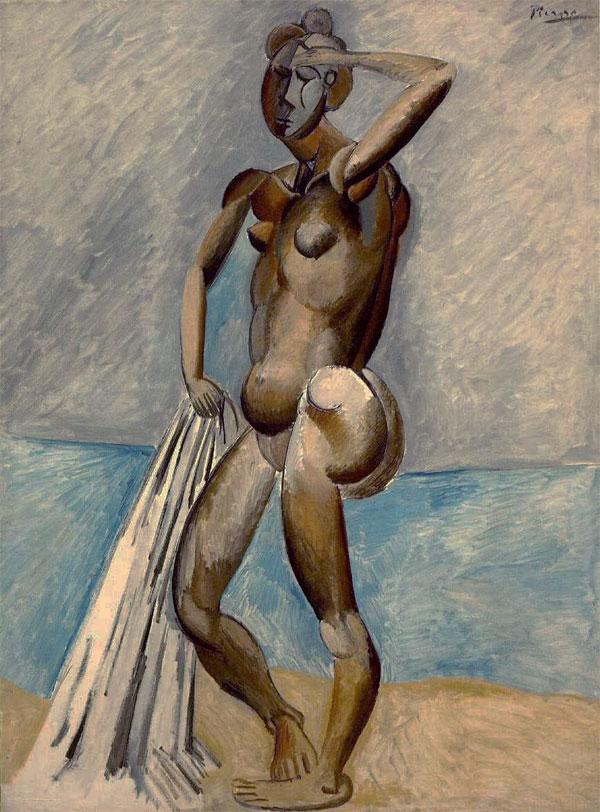 Картина Пабло Пикассо. Купальщица. 1908-1909