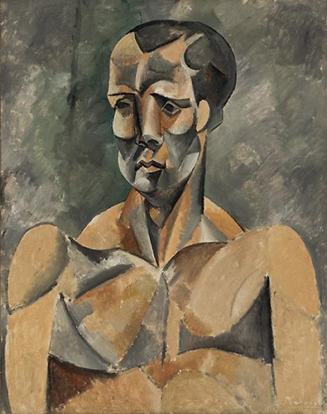 Картина Пабло Пикассо. Бюст человека (Cпортсмен). 1909