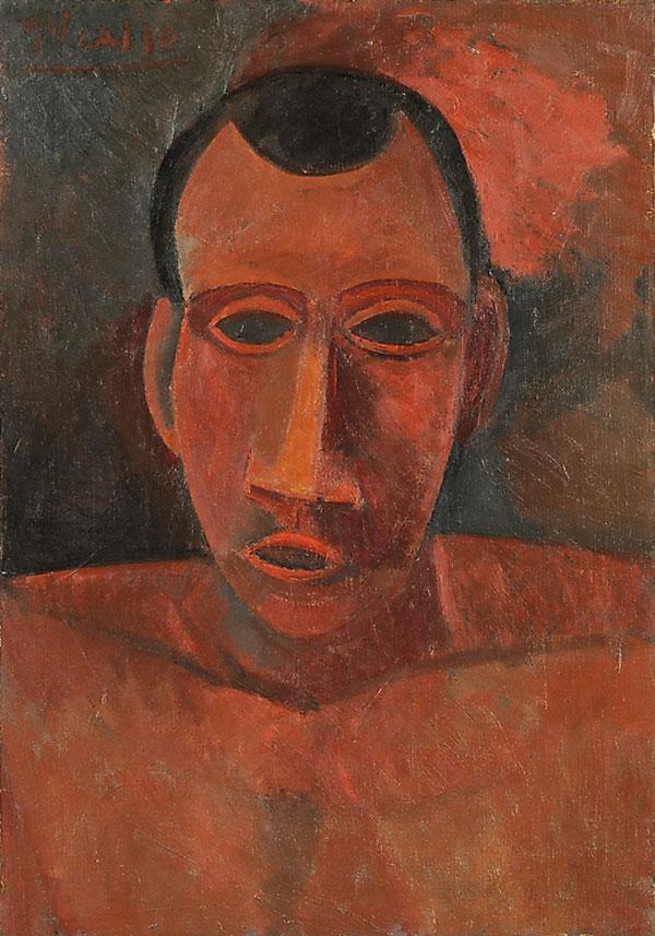 Картина Пабло Пикассо. Бюст человека. 1908