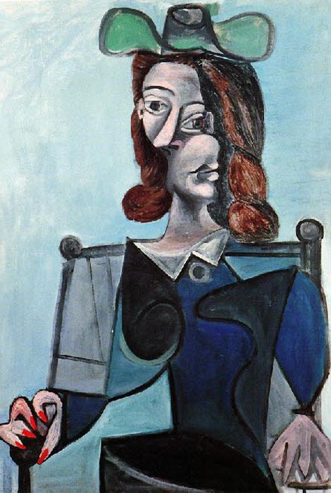 Картина Пабло Пикассо. Бюст женщины в шляпе. 1941