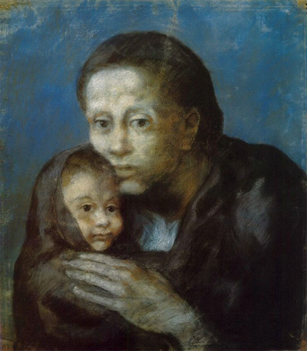 Картина Пабло Пикассо. Мать и дитя. 1903