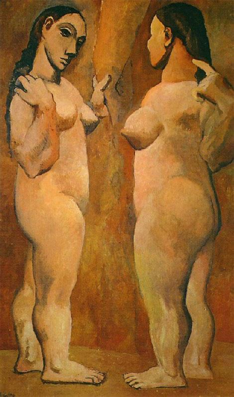 Картина Пабло Пикассо. Две обнаженные. 1906