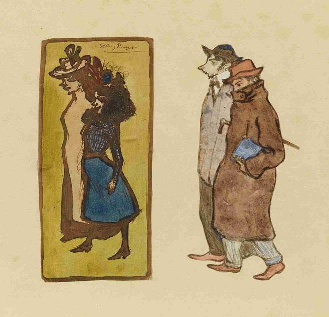 Картина Пабло Пикассо. Художники Касагемас и Пикассо. 1900