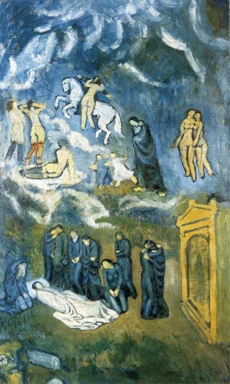 Картина Пабло Пикассо. Похороны Касагемаса. 1901