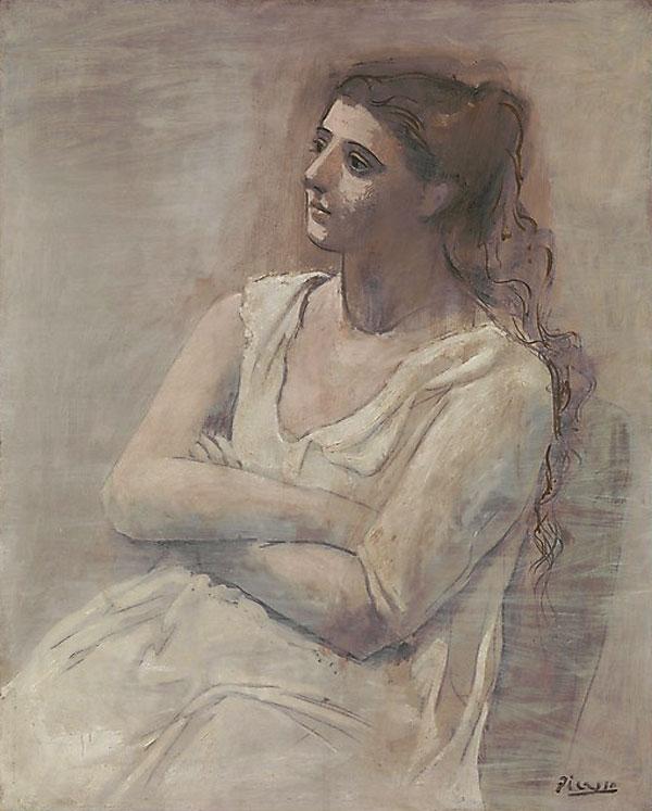 Картина Пабло Пикассо. Женщина в белом. 1923
