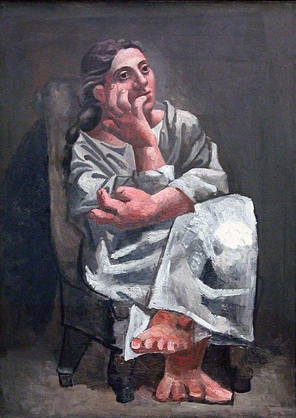 Картина Пабло Пикассо. Сидящая женщина. 1920