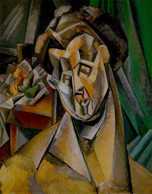 Картина Пабло Пикассо. Женщина с грушами (Фернанда). 1909