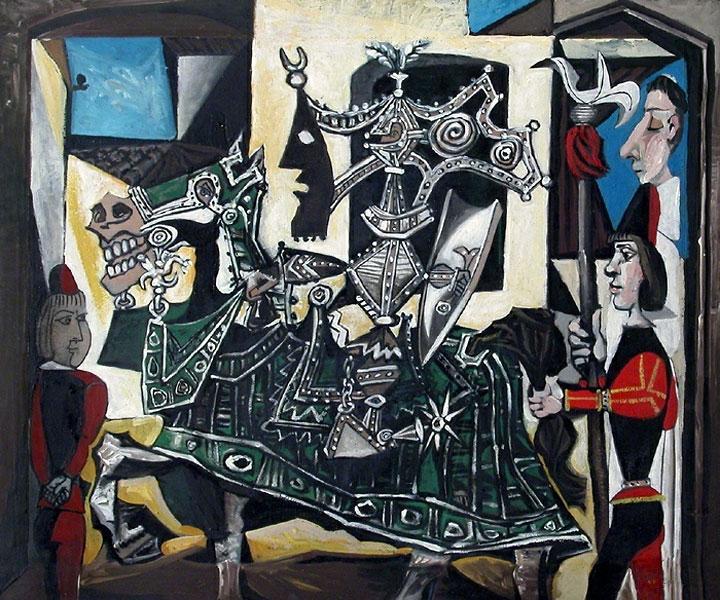 Картина Пабло Пикассо. Рыцарь, паж и монах. 1951