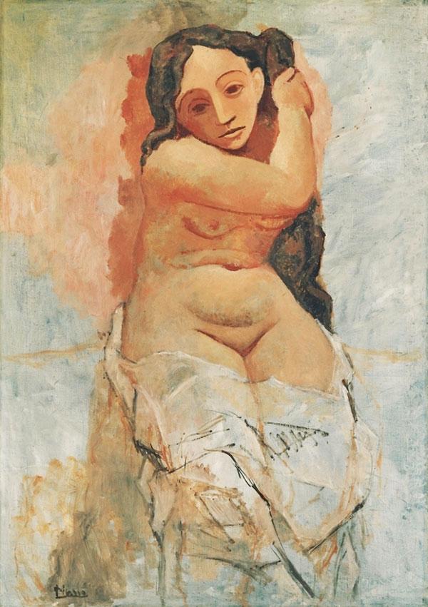 Картина Пабло Пикассо. Причесывание (Фернанда). 1906