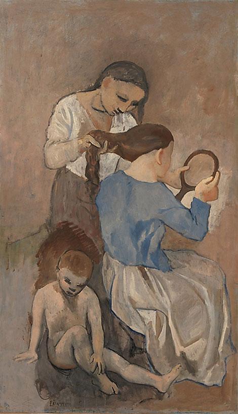 Картина Пабло Пикассо. Причесывание. 1906