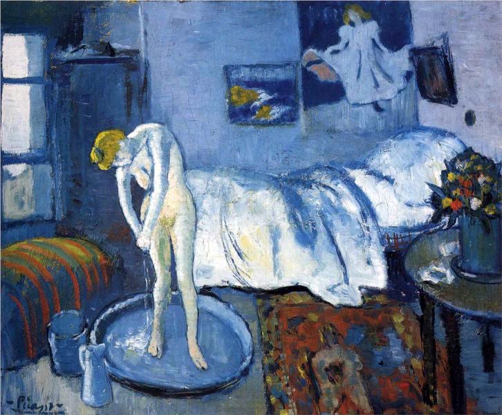 Картина Пабло Пикассо. Голубая комната (ванна). 1901