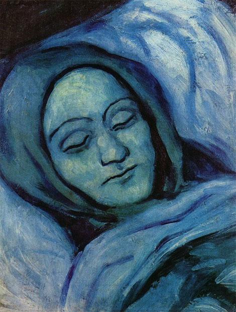 Картина Пабло Пикассо. Мертвая женщина. 1903