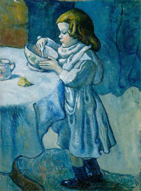 Картина Пабло Пикассо. Гурман. 1901