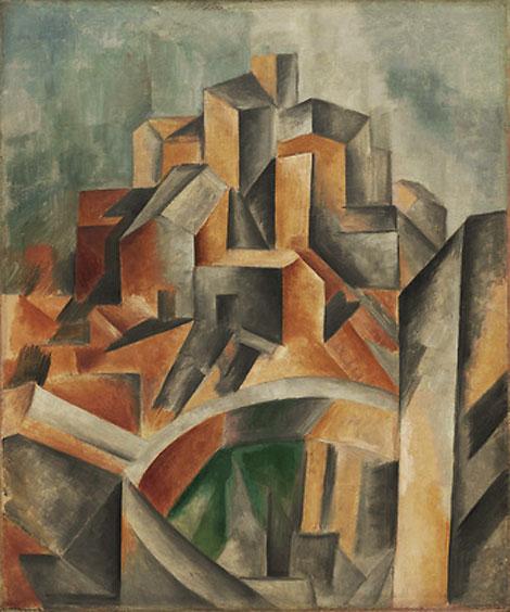 Картина Пабло Пикассо. Водоем, Хорта де Эбро. 1909