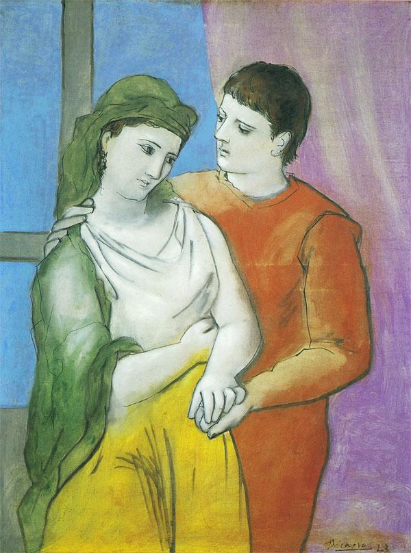 Картина Пабло Пикассо. Любовники. 1923