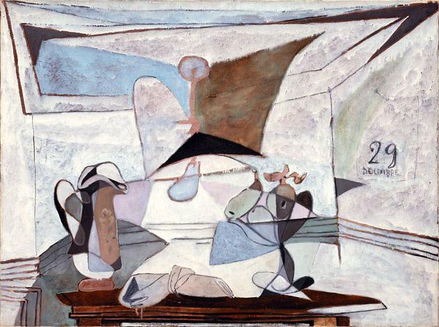 Картина Пабло Пикассо. Натюрморт с лампой. 1936