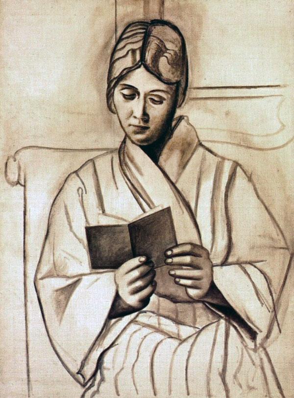 Картина Пабло Пикассо. Читающая Ольга. 1920