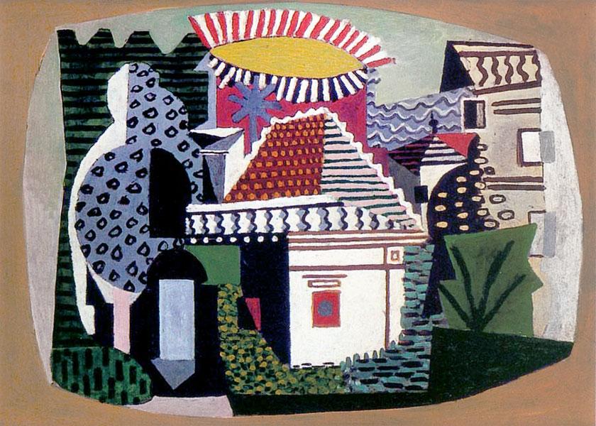 Картина Пабло Пикассо. Жуан ле Пен. 1920