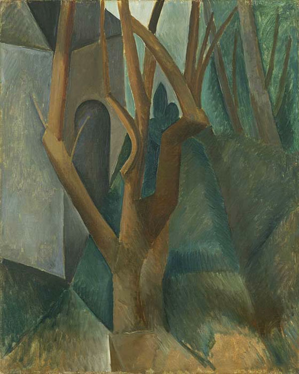Картина Пабло Пикассо. Пейзаж. 1908