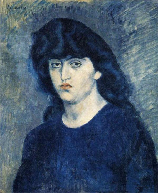 Картина Пабло Пикассо. Портрет Сюзанны Блох. 1904