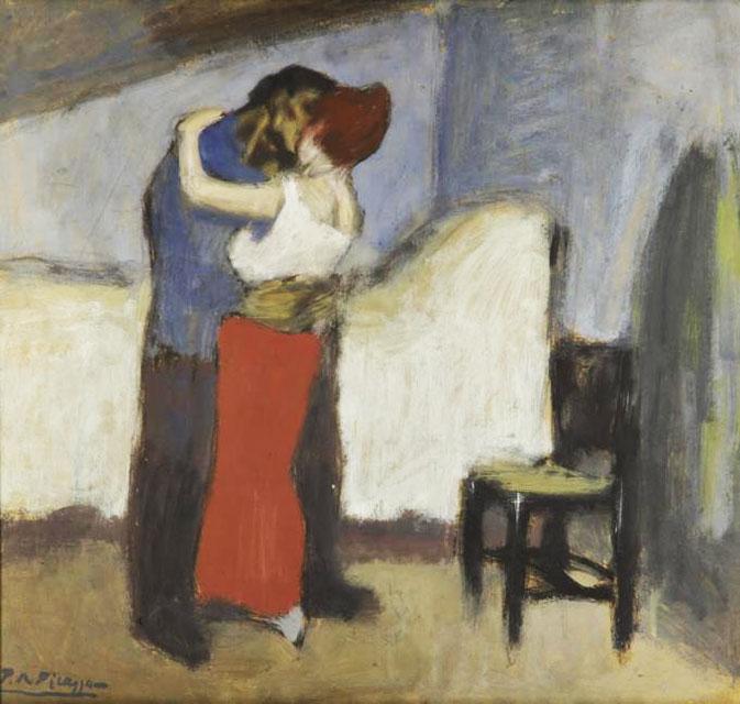 Картина Пабло Пикассо. Свидание. 1900