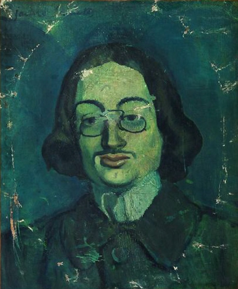 Картина Пабло Пикассо. Синий портрет Хайме Сабартеса. 1901