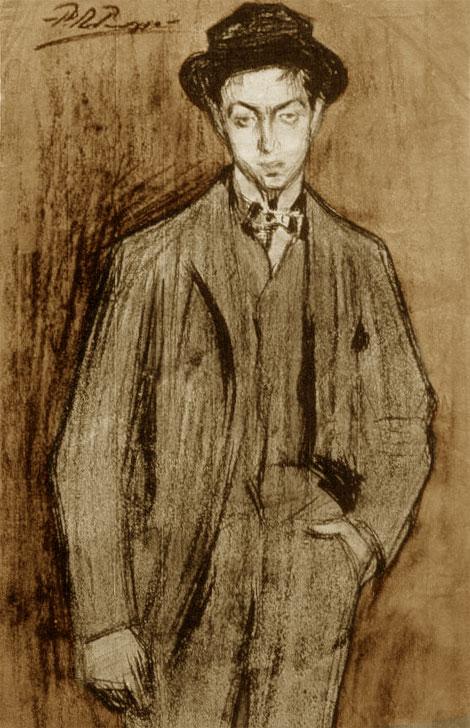 Картина Пабло Пикассо. Портрет Жоана Видала Вентозы. 1900