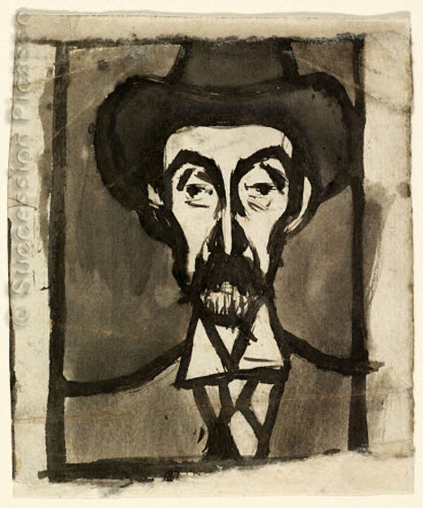 Картина Пабло Пикассо. Портрет Мигеля Утрилло. 1900
