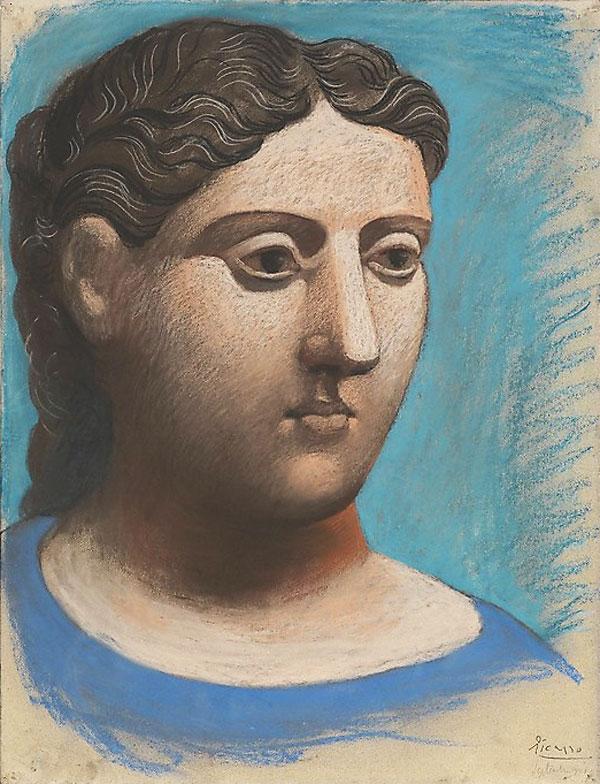 Картина Пабло Пикассо. Голова женщины 2. 1921