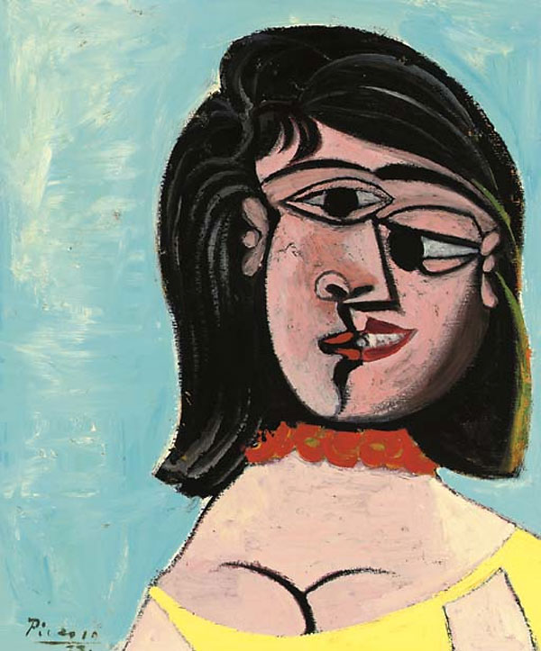 Картина Пабло Пикассо. Голова женщины (Дора Маар). 1937 ($5,6 млн)