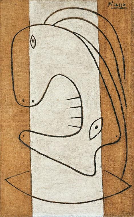 Картина Пабло Пикассо. Голова женщины. 1927