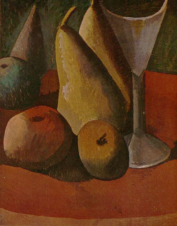 Картина Пабло Пикассо. Бокал и фрукты. 1908