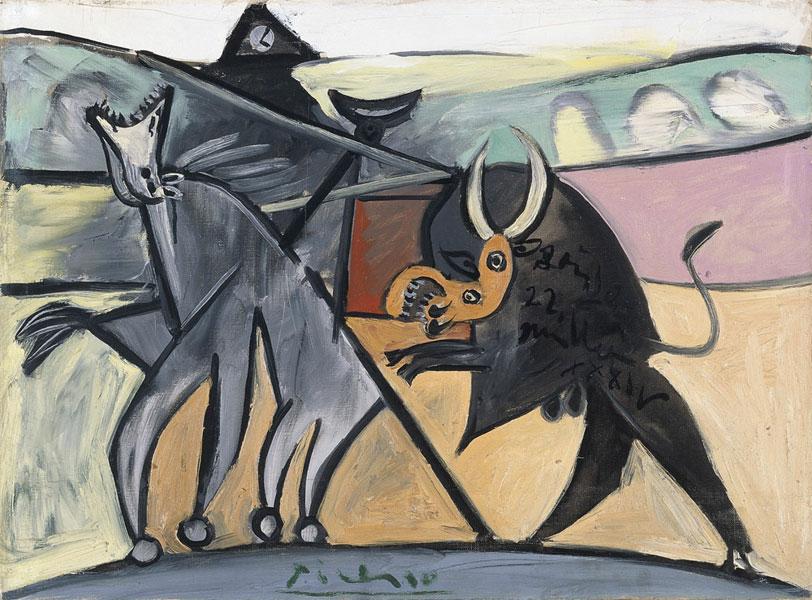 Картина Пабло Пикассо. Коррида. 1934