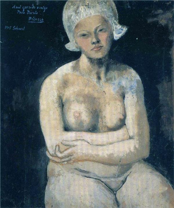 Картина Пабло Пикассо. Прекрасная голландка. 1905