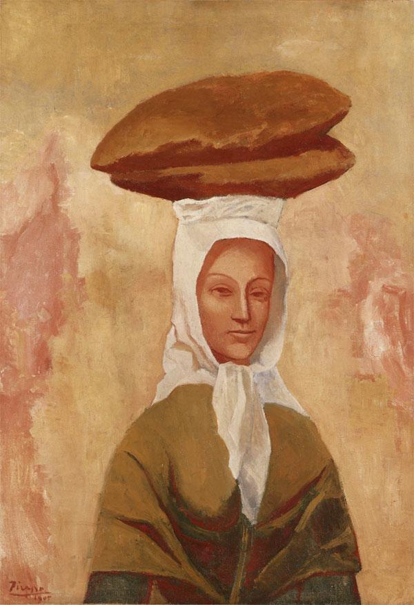 Картина Пабло Пикассо. Женщина с хлебами. 1906