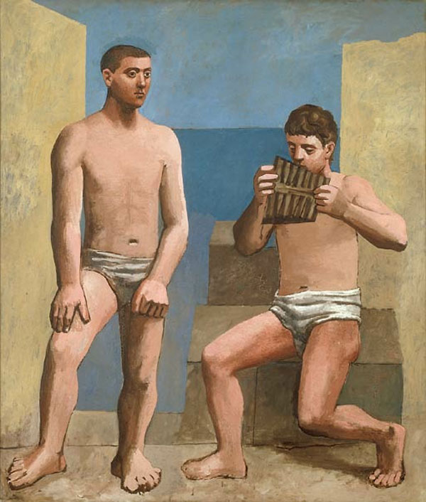Картина Пабло Пикассо. Флейта Пана. 1923