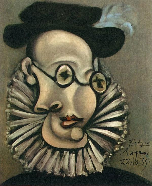 Картина Пабло Пикассо. Портрет Хайме Сабартеса (испанский гранд). 1939