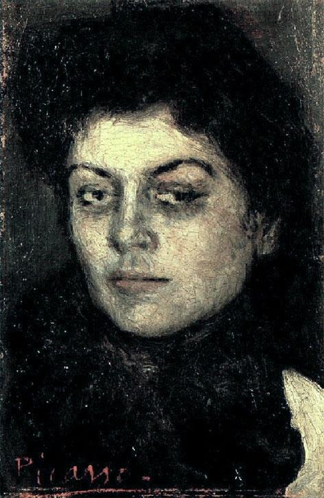 Картина Пабло Пикассо. Портрет Лолы Руиз Пикассо. 1901