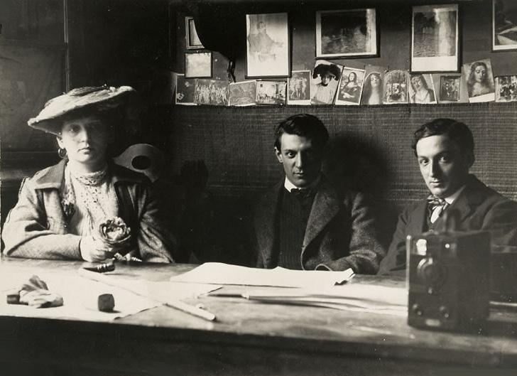 Пабло Пикассо, Фернанда Оливье и Рамон Ревентос, Барселона. Фото, 1906