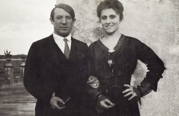 Пабло Пикассо и Ольга Хохлова в Риме. Фото, 1917