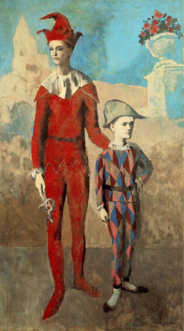 Картина Пабло Пикассо. Акробат и юный Арлекин. 1905