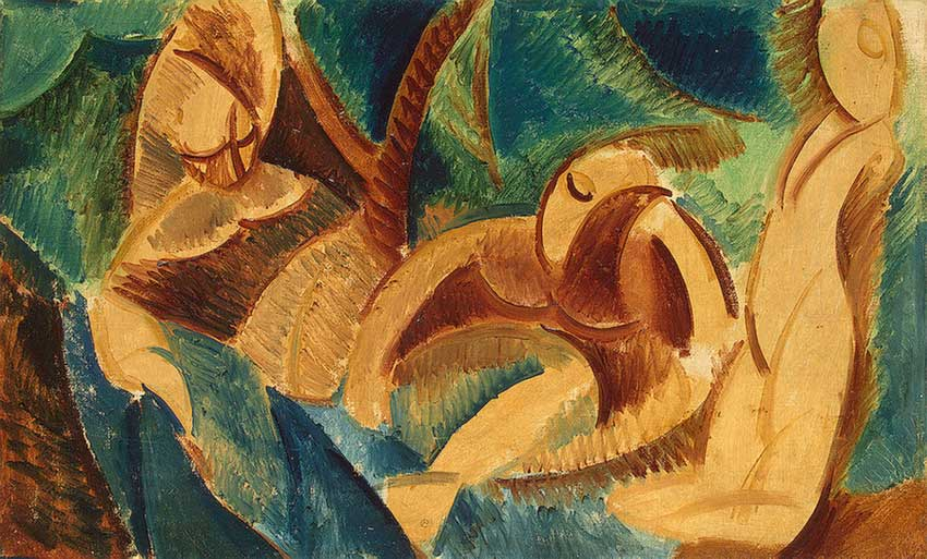 Картина Пабло Пикассо. Купание. 1908