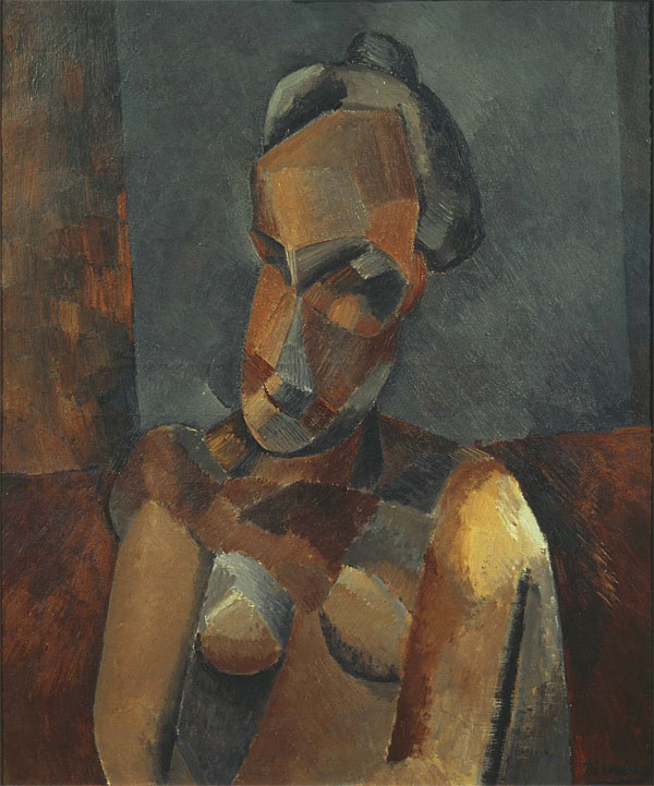 Картина Пабло Пикассо. Бюст женщины. 1909