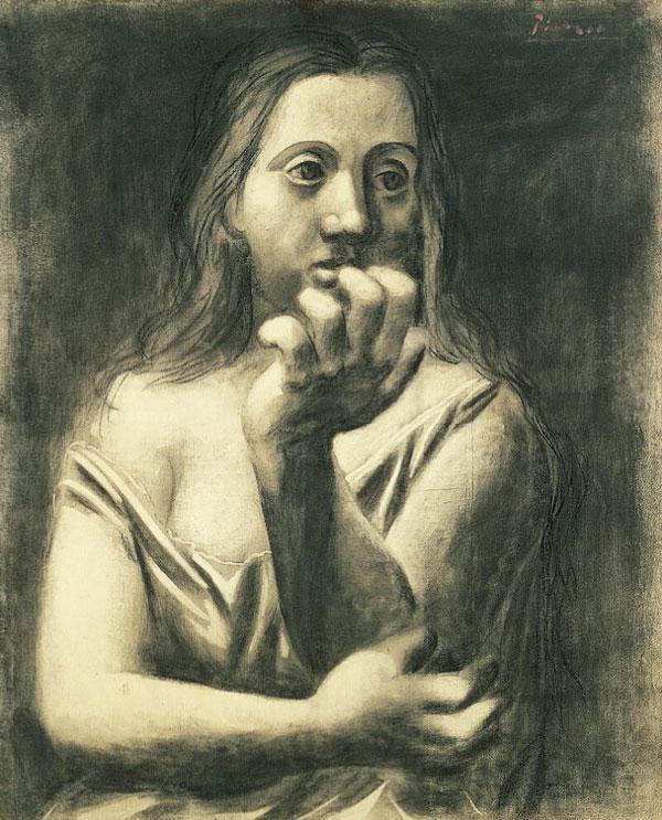Картина Пабло Пикассо. Бюст женщины. 1923