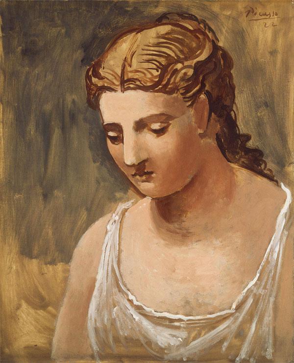 Картина Пабло Пикассо. Классическая голова. 1922
