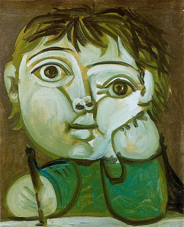 Картина Пабло Пикассо. Пишущий Клод. 1951