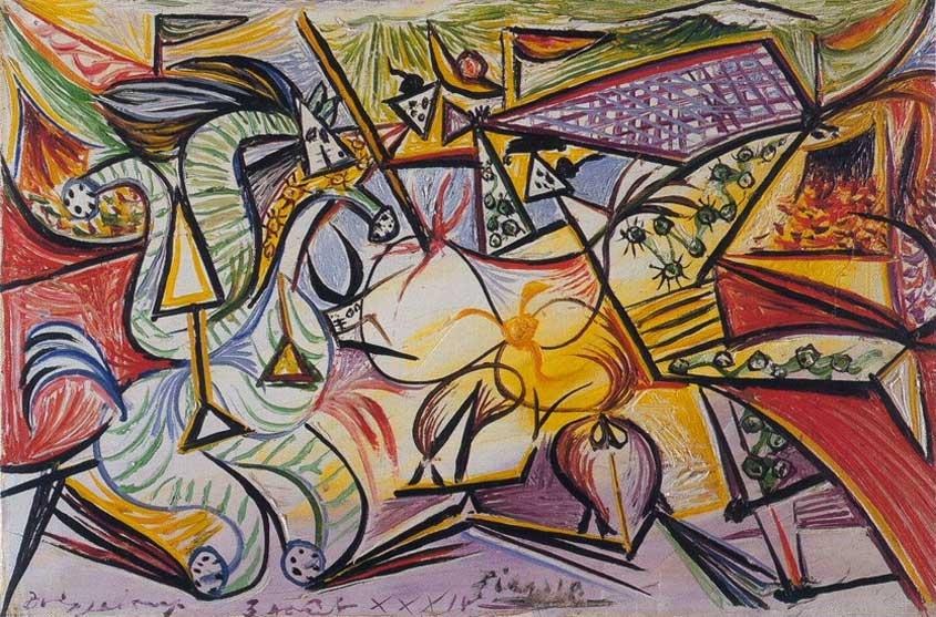 Картина Пабло Пикассо. Бой быков (Коррида). 1934