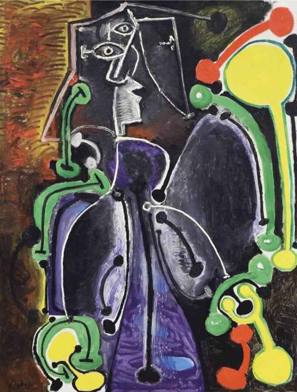 Картина Пабло Пикассо. Сидящая женщина. 1949 ($13,4 млн)
