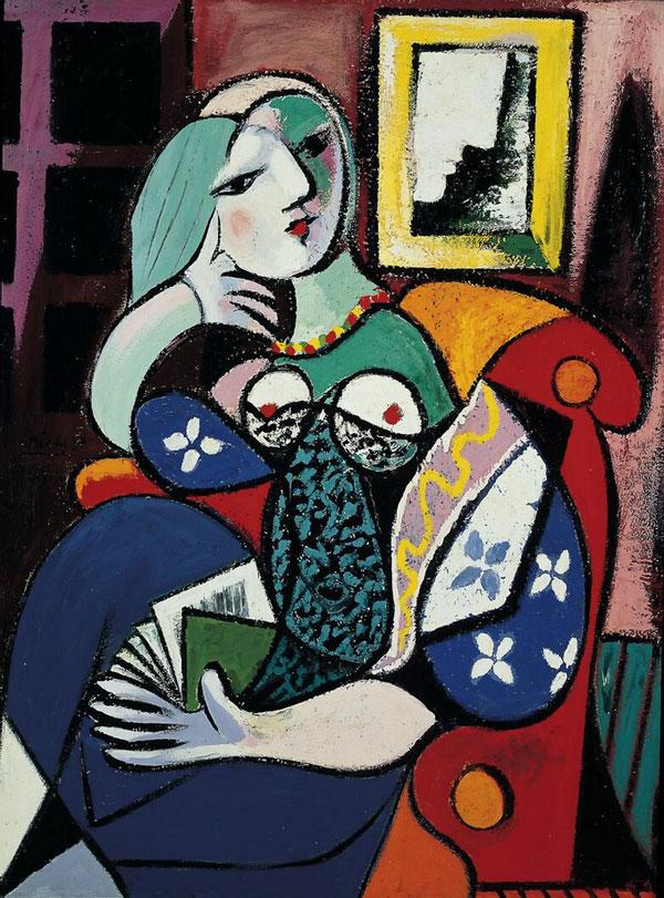 Картина Пабло Пикассо. Женщина с книгой. 1932